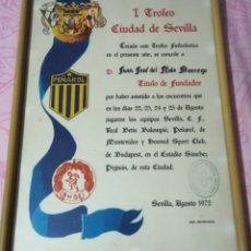 Coleccionismo deportivo: I TROFEO CIUDAD DE SEVILLA. Lote 222874187
