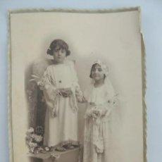 Coleccionismo deportivo: MUY ANTIGUA FOTO DE ESTUDIO, DÍA DE LA PRIMERA COMUNIÓN, 1918, SOBRE CARTULINA. DIMENSIONES: 15 X 10. Lote 224241797