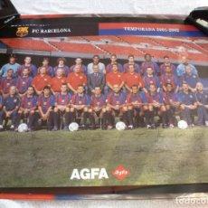 Coleccionismo deportivo: (ABJ-LLL) POSTER-(61 X 42 ) F.C.BARCELONA TEMPORADA 2001-2002 FIRMAS IMPRESAS JUGADORES BARÇA. Lote 225794951