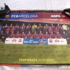Coleccionismo deportivo: (ABJ-LLL) POSTER-(61 X 42 ) F.C.BARCELONA TEMPORADA 2002-2003 FIRMAS IMPRESAS JUGADORES BARÇA. Lote 225795465