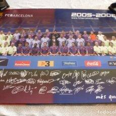 Coleccionismo deportivo: (ABJ-LLL) POSTER-(68 X 47 ) F.C.BARCELONA TEMPORADA 2005-2006 MESSI BARÇA FIRMAS IMPRESAS. Lote 225796180