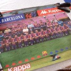 Coleccionismo deportivo: (ABJ-LLL) POSTER-(61 X 42 ) F.C.BARCELONA TEMPORADA 94-95 FIRMAS IMPRESAS BARÇA KAPPA. Lote 225798600