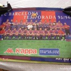 Coleccionismo deportivo: (ABJ-LLL) POSTER-(62 X 40 ) F.C.BARCELONA TEMPORADA 1995-96 FIRMAS IMPRESAS BARÇA KAPPA. Lote 225800065