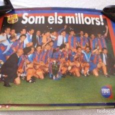 Coleccionismo deportivo: (ABJ-LLL) POSTER-(61 X 45 ) F.C.BARCELONA WEMBLEY 1992 CAMPEONES DE EUROPA POR PRIMERA VEZ. Lote 225800452