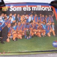 Coleccionismo deportivo: (ABJ-LLL) POSTER-(61 X 45 ) F.C.BARCELONA WEMBLEY 1992 CAMPEONES DE EUROPA POR PRIMERA VEZ. Lote 225800550
