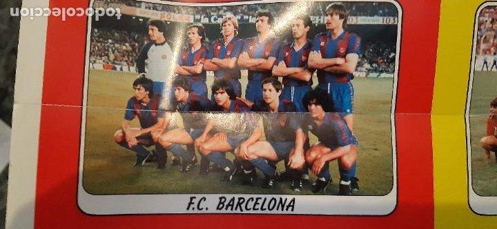 Coleccionismo deportivo: EXTRAORDINARIO CARTEL POSTER FUTBOL 84 PANINI MARADONA BARCELONA ÚNICO EN TODOCOLECCION. LEER - Foto 5 - 48623562