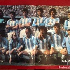 Coleccionismo deportivo: PÓSTER ANTIGUO MALAGA REVISTA QUINIELISTA. Lote 228919735