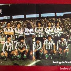 Coleccionismo deportivo: PÓSTER ANTIGUO RACING DE SANTANDER REVISTA QUINIELISTA. Lote 228920225