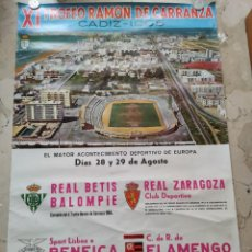 Coleccionismo deportivo: XI TROFEO RAMON DE CARRANZA, CADIZ - 1.965. 93X62 CENTIMETROS.. Lote 229341415