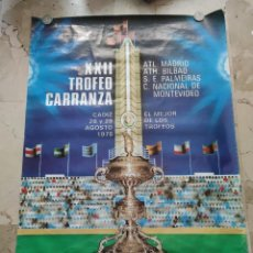 Coleccionismo deportivo: XXII TROFEO CARRANZA ,CADIZ 28 Y 29 AGOSTO 1.976, 97X68 CENTIMETROS.. Lote 229342645