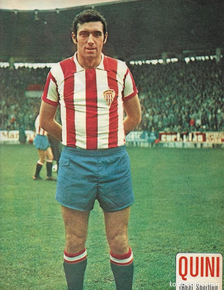 REAL SPORTING DE GIJÓN: PÓSTER DE QUINI. 1975-76 (Coleccionismo Deportivo - Carteles de Fútbol)