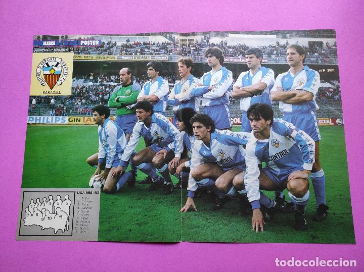 POSTER CE SABADELL 86 87 - REVISTA MARCA SUPERCOLOR - LIGA TEMPORADA 1986/1987 (Coleccionismo Deportivo - Carteles de Fútbol)