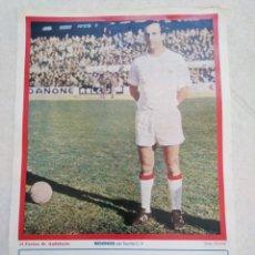 Coleccionismo deportivo: REDONDO DEL SEVILLA C.F, CARTEL ( 32.50 X 22.50 ). Lote 230932690