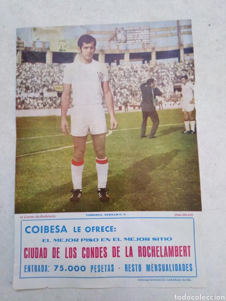 TOÑANES DEL SEVILLA C.F, CARTEL ( 32.50 X 22.50 ) (Coleccionismo Deportivo - Carteles de Fútbol)