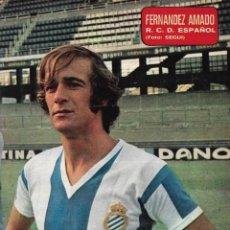 Coleccionismo deportivo: RCD. ESPAÑOL: PÓSTER DE FERNÁNDEZ AMADO.1975. Lote 231661015