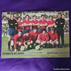 Collezionismo sportivo: POSTER EQUIPO DE FUTBOL OSASUNA. LA GACETA DEL NORTE. TEMPORADA 1972/73. Lote 231852480