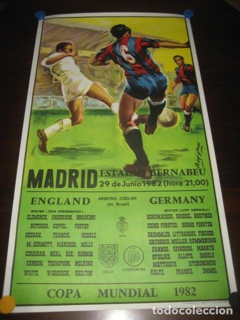 CARTEL POSTER FUTBOL MUNDIAL ESPAÑA 1982. INGLATERRA - ALEMANIA. ESTADIO SANTIAGO BERNABEU, MADRID (Coleccionismo Deportivo - Carteles de Fútbol)