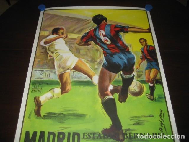 Coleccionismo deportivo: CARTEL POSTER FUTBOL MUNDIAL ESPAÑA 1982. INGLATERRA - ALEMANIA. ESTADIO SANTIAGO BERNABEU, MADRID - Foto 2 - 233034140