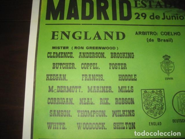 Coleccionismo deportivo: CARTEL POSTER FUTBOL MUNDIAL ESPAÑA 1982. INGLATERRA - ALEMANIA. ESTADIO SANTIAGO BERNABEU, MADRID - Foto 4 - 233034140