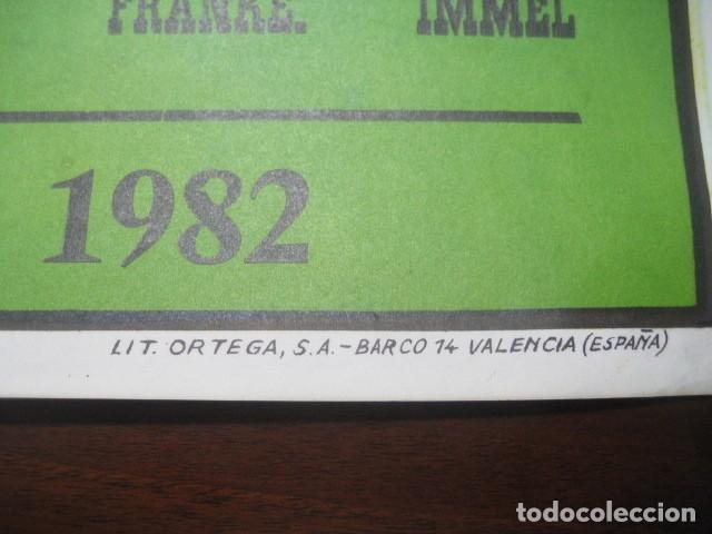 Coleccionismo deportivo: CARTEL POSTER FUTBOL MUNDIAL ESPAÑA 1982. INGLATERRA - ALEMANIA. ESTADIO SANTIAGO BERNABEU, MADRID - Foto 7 - 233034140