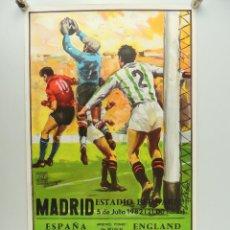 Coleccionismo deportivo: ANTIGUO CARTEL DE PARTIDO DE FÚTBOL – COPA MUNDIAL 1982 ESPAÑA-ENGLAND. Lote 234737485