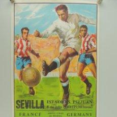 Coleccionismo deportivo: ANTIGUO CARTEL DE PARTIDO DE FÚTBOL – COPA MUNDIAL 1982 FRANCE - GERMANY. Lote 234737730