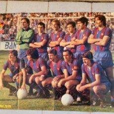 Coleccionismo deportivo: F.C. BARCELONA 1978-79 ONZE MARCELINO ATLETICO MADRID. Lote 234948385