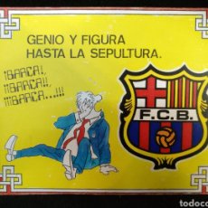 Coleccionismo deportivo: CARTEL F.C BARCELONA. 18CM X 14CM. Lote 235047945