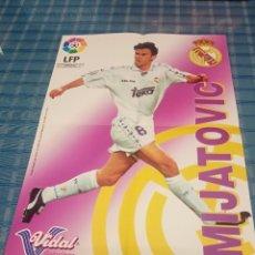 Coleccionismo deportivo: POSTER DE MIJATOVIC VIDAL GOLOSINAS LFP 96-97. Lote 235143540