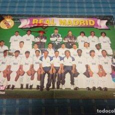 Coleccionismo deportivo: POSTER DEL EQUIPO REAL MADRID VIDAL GOLOSINAS LFP 96-97. Lote 235145110