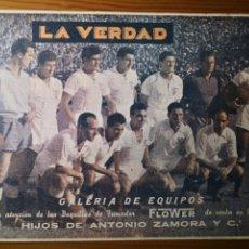 Coleccionismo deportivo: SEVILLA CF, GALERÍA DE EQUIPOS, LA VERDAD, 1955. Lote 235195690