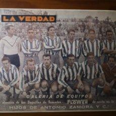 Coleccionismo deportivo: RC DEPORTIVO ESPAÑOL, GALERÍA DE EQUIPOS, LA VERDAD, 1955. Lote 235196010