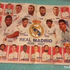 Coleccionismo deportivo: -POSTER DE FUTBOL DEL REAL MADRID TEMPORADA 20-21. Lote 235543715