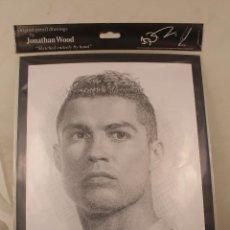 Coleccionismo deportivo: DIBUJO A LÁPIZ DE CRISTIANO RONALDO /IMAGEN SKETCH POR JONATHAN WOOD. Lote 268860899