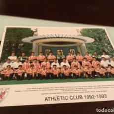 Coleccionismo deportivo: TARJETÓN ATHLETIC CLUB DE BILBAO 1992 1993. Lote 236796390