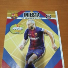 Coleccionismo deportivo: POSTER INIESTA - BARCELONA - GOLY. Lote 237145965