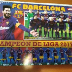 Coleccionismo deportivo: POSTER BARCELONA CAMPEON LIGA 2017-18 - GOLY. Lote 237146395