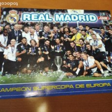 Coleccionismo deportivo: POSTER REAL MADRID CAMPEON SUPERCOPA EUROPA 2017 - GOLY. Lote 237147795