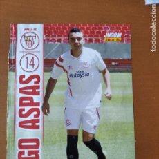 Coleccionismo deportivo: POSTER DOBLE IAGO ASPAS - SEVILLA Y CAICEDO - ESPANYOL - ESPAÑOL - GOLY. Lote 237503615