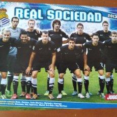 Coleccionismo deportivo: POSTER DOBLE REAL SOCIEDAD Y COROMINAS - ELCHE - GOLY. Lote 237505230