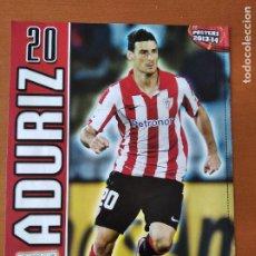 Coleccionismo deportivo: POSTER DOBLE ADURIZ - ATHLETIC BILBAO Y AUGUSTO FERNANDEZ - CELTA VIGO - GOLY. Lote 237511495