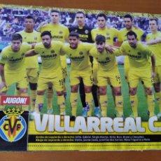 Coleccionismo deportivo: POSTER DOBLE VILLARREAL Y NEGREDO - VALENCIA - GOLY. Lote 237516125