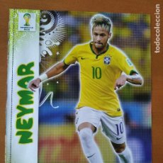 Coleccionismo deportivo: POSTER DOBLE NEYMAR - BRASIL Y JAMES RODRIGUEZ - COLOMBIA - GOLY. Lote 237517710