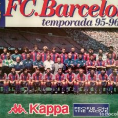 Coleccionismo deportivo: POSTER FUTBOL FC BARCELONA PLANTILLA BARÇA 1995 1996 (R). Lote 238260925