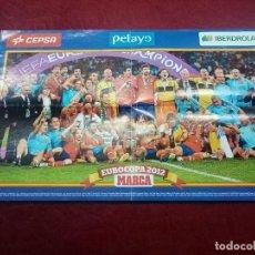 Coleccionismo deportivo: CARTEL POSTER SELECCIÓN ESPAÑOLA DE FÚTBOL -- CAMPEÓN EUROCOPA 2012 -- ESPAÑA -- PERIÓDICO MARCA. Lote 238639805