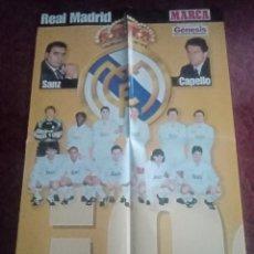 Coleccionismo deportivo: POSTER EQUIPO REAL MADRID MARCA. Lote 238645000