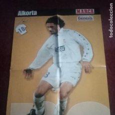 Coleccionismo deportivo: POSTER DEL REAL MADRID CLUB DE FÚTBOL. JUGADOR RAFA ALKORTA. 1996 - 1997. 58X39 CM. Lote 238646210