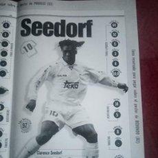 Coleccionismo deportivo: POSTER REAL MADRID 96/97 MARCA EDICIÓN LA SEPTIMA CLARENCE SEEDORF. Lote 238647850