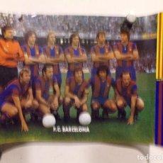 Coleccionismo deportivo: POSTER FUTBOL CLUB BARCELONA CON JOHAN CRUYFF EN MUY BUEN ESTADO. Lote 239793250