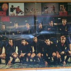 Coleccionismo deportivo: POSTER SELECCION ESPAÑOLA AÑO 1974 LA NOCHE DE LA FURIA . LA ACTUALIDAD ESPAÑOLA. Lote 239945720